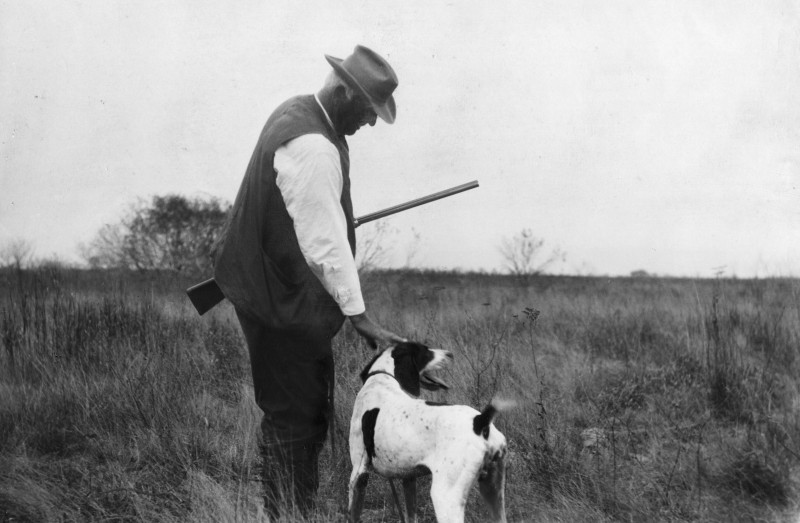 Caesar Kleberg and Hunting Dog.